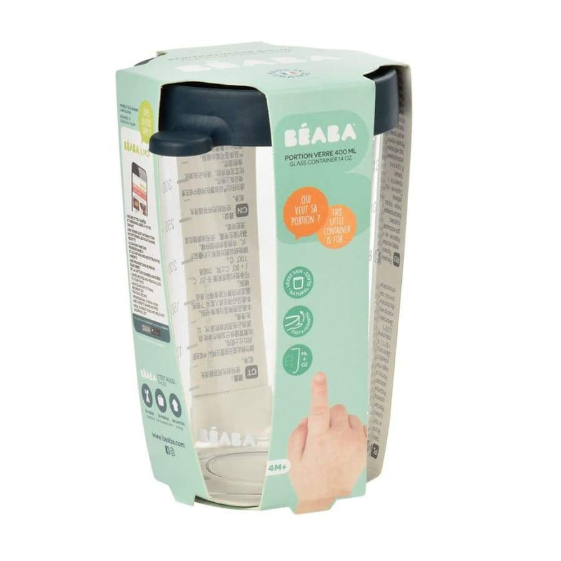 Beaba Superior Glass 400ML Dark Blue | Beaba | Baby Feeding