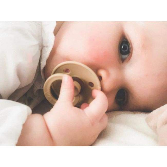 Bibs Natural Rubber Pacifier (2-Pack) - Iron/Blush | Bibs | Baby Essentials