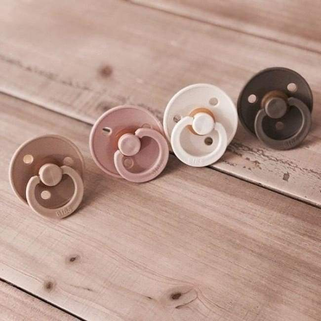 Bibs Natural Rubber Pacifier (2-Pack) - Vanilla/Blush | Bibs | Baby Essentials