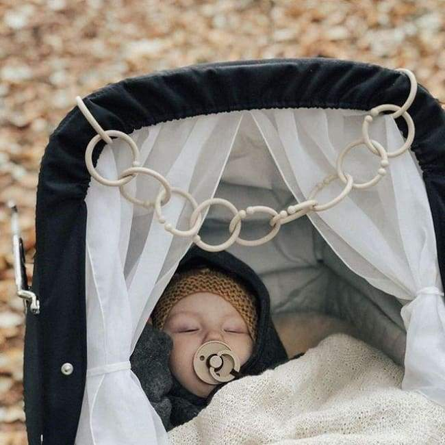 Bibs Pacifier Loops (5-Pack) - Dark Oak | Bibs | Baby Essentials