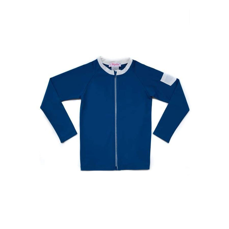 Folpetto Leonardo Rashguard With Zip Cobalt | Folpetto | Swim