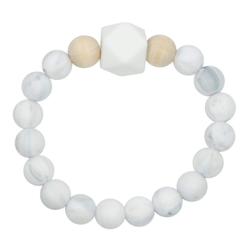 Glitter & Spice Adult Silicone Teething Bracelet - Gemstone in Luna Gray | Glitter & Spice | For Mama