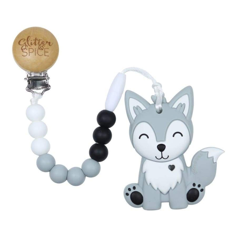 Glitter & Spice Wolf Pup Teether | Glitter & Spice | Baby Essentials