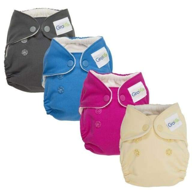 GroVia AIO Newborn 4-Pack | Grovia | Cloth Diaper