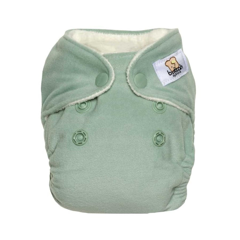GroVia Buttah Newborn AIO Cloth Diaper - Glacier | Grovia | Cloth Diaper