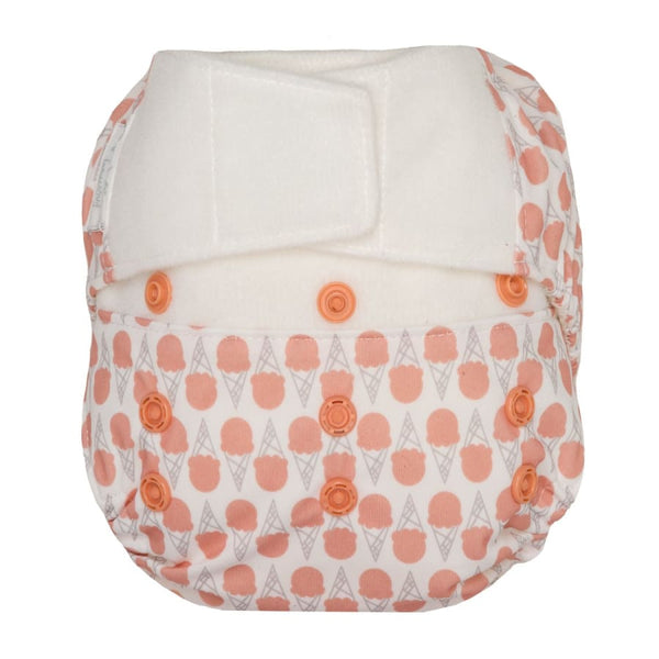 GroVia Hybrid Cloth Diaper H&L Grapefruit Ice Cream | Grovia | Cloth Diaper