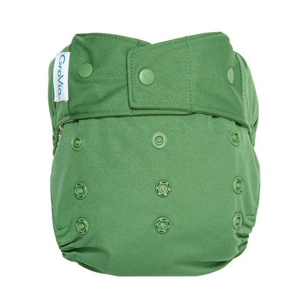 GroVia Hybrid Cloth Diaper Snap Shell Basil | Grovia | Cloth Diaper