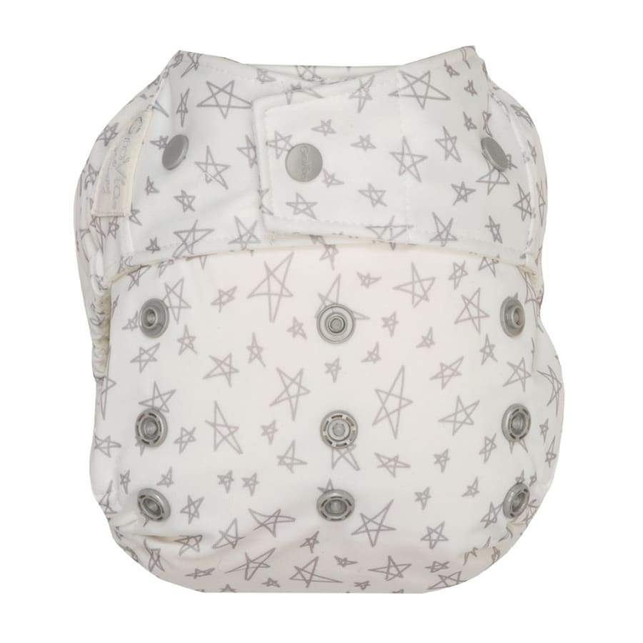 GroVia Hybrid Cloth Diaper Snap Shell Slate Stars | Grovia | Cloth Diaper