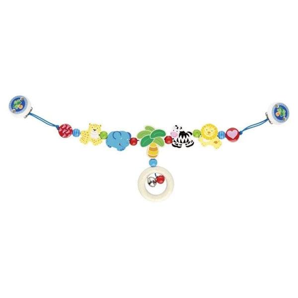 Heimess Wooden Pram Chain with Clips Africa | Heimess | Toys