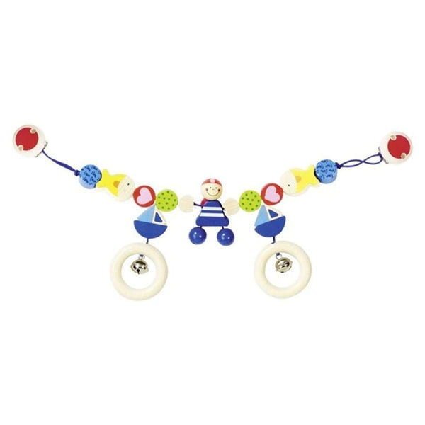Heimess Wooden Pram Chain with Clips Pirate | Heimess | Toys