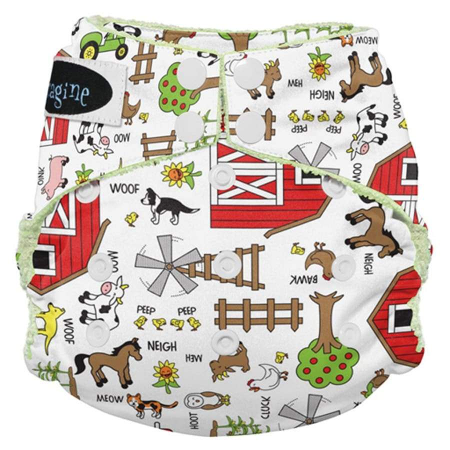 Imagine Stay Dry All-In-One Snap - Barnyard Jam | Imagine | Cloth Diaper