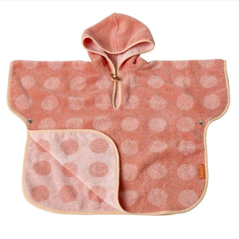 Leander Matty Changing Mat Poncho - Coral/Pink | Leander | Nursery