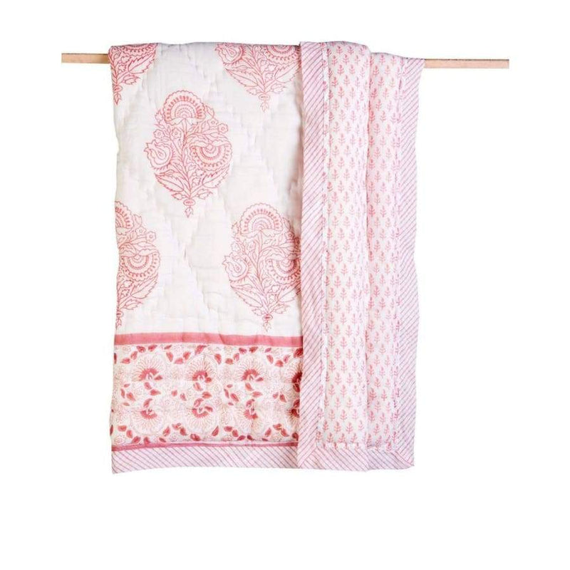 Malabar Baby Cotton Baby Quilt - Pink City | Malabar Baby | Baby Sleep