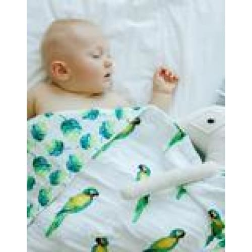 Malabar Baby Snuggle Blanket - Parrot/Leaf Reversible | Malabar Baby | Blankets