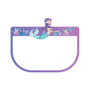 PPE Advantage Kids Face Shields set of 2 - Mermaid