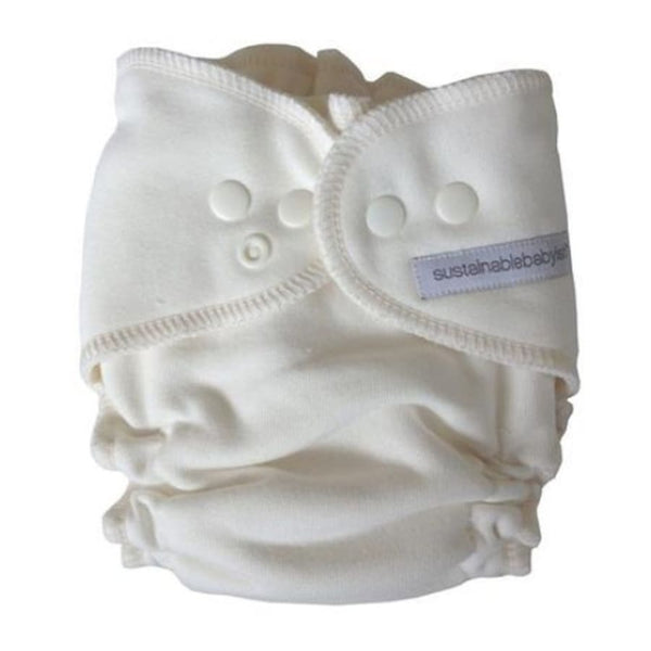 Sloomb Overnight Bamboo Fleece Fitted Cloth Diaper - Natural | Petit Tippi | Cloth Diaper