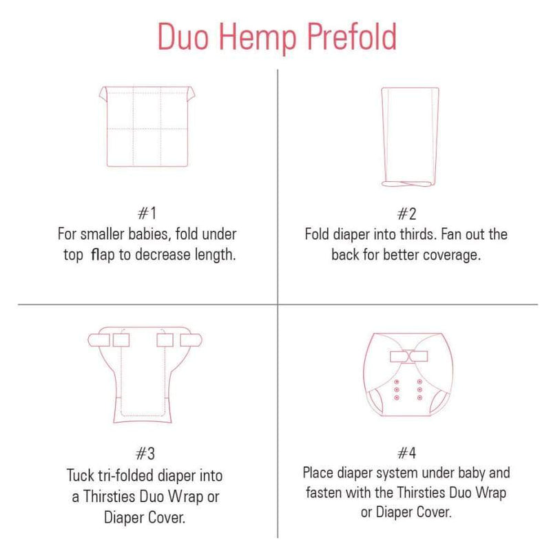 Thirsties Duo Hemp Prefold | Thirsties | Cloth Diaper Accessory