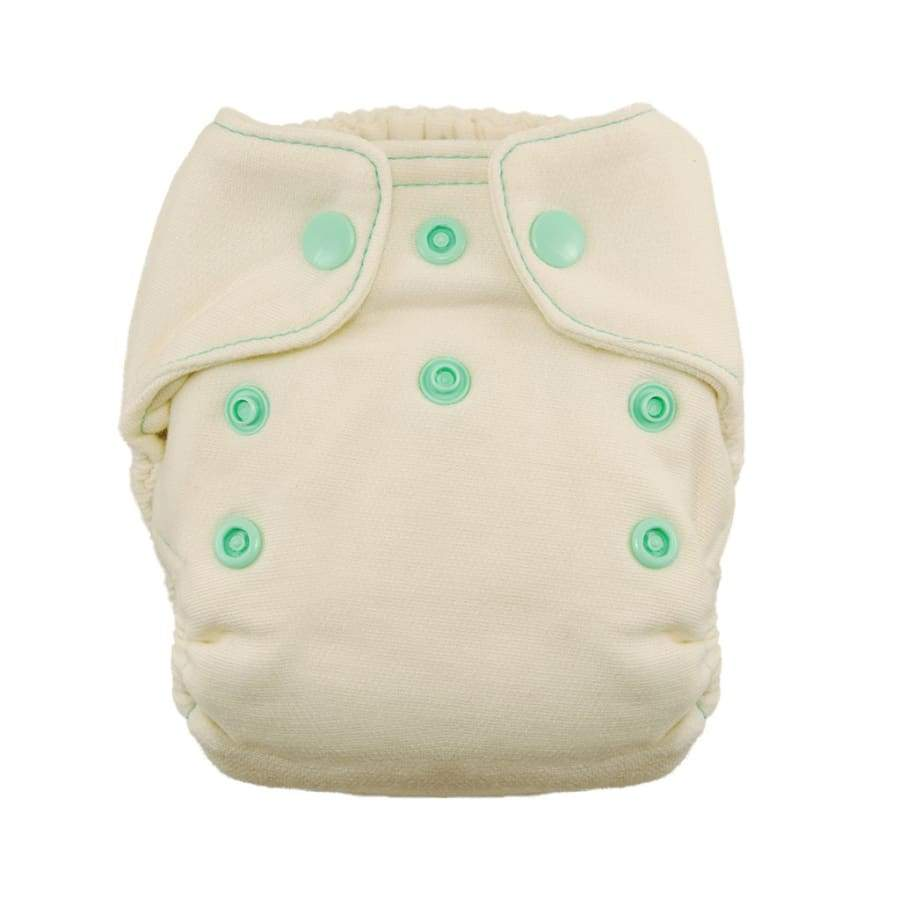 Thirsties Natural Newborn Fitted Snap - Moss | Thirsties | Cloth Diaper