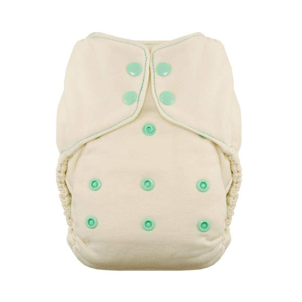 Thirsties Natural One Size Fitted Snap - Moss | Thirsties | Cloth Diaper
