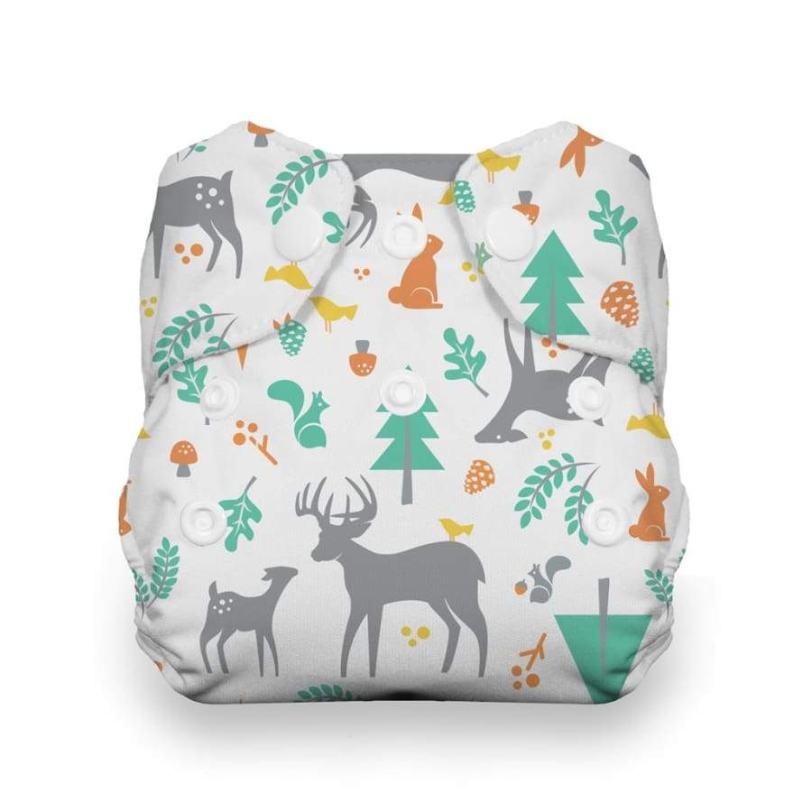 Thirsties Newborn All In One Snap - Woodland | Thirsties | Cloth Diaper