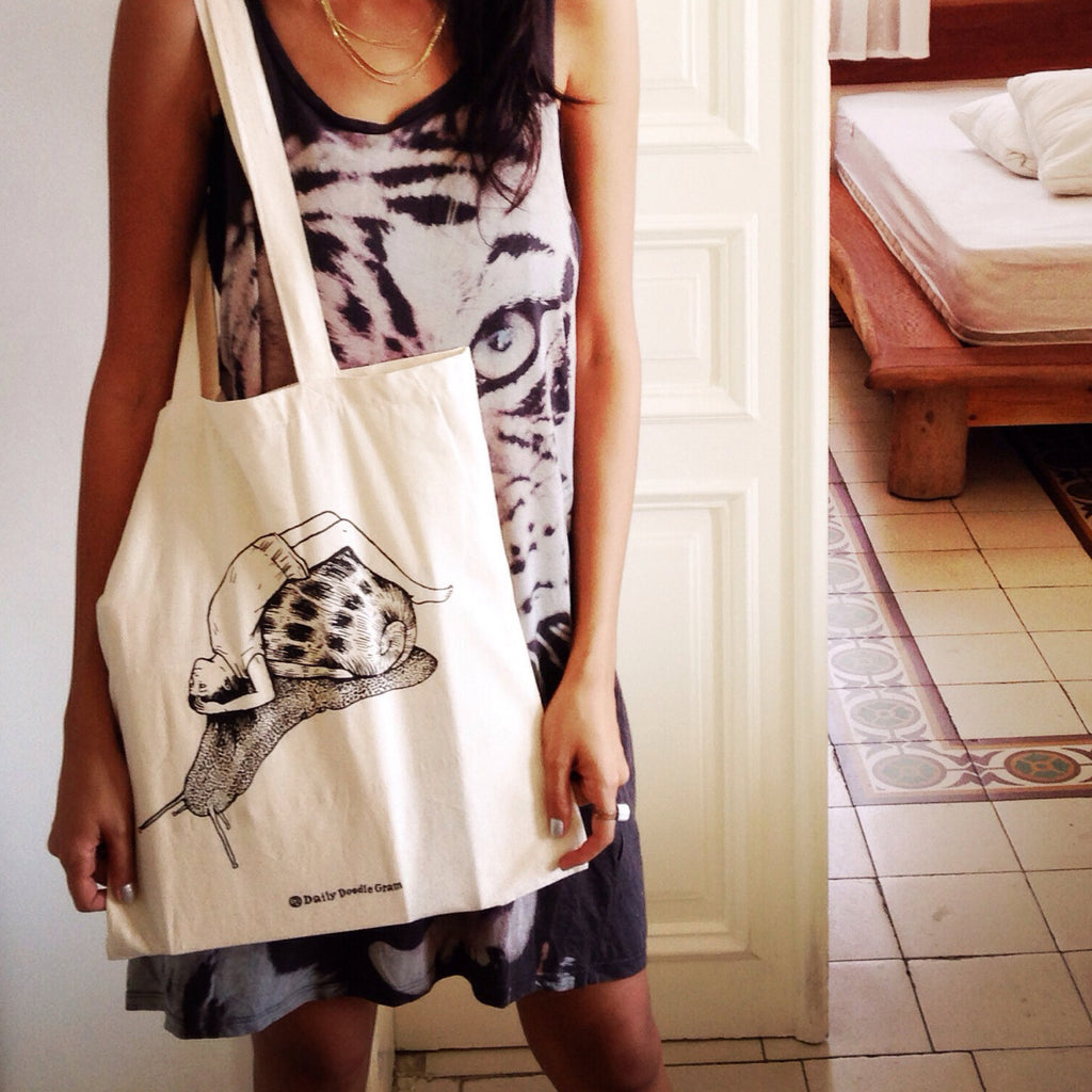 Snail Girl - Tote Bag