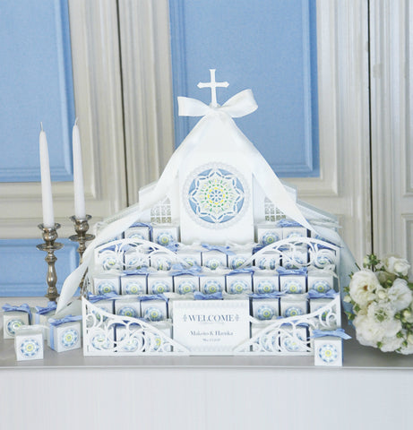 White Grace Cathedral Favor Set