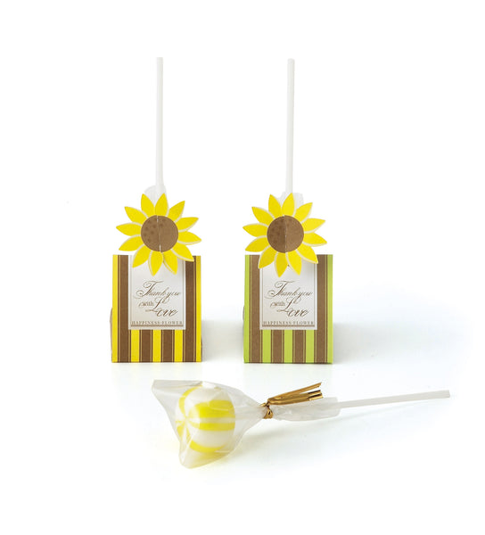 Sweet Candy Pop in Sunflower Pack (24pcs)