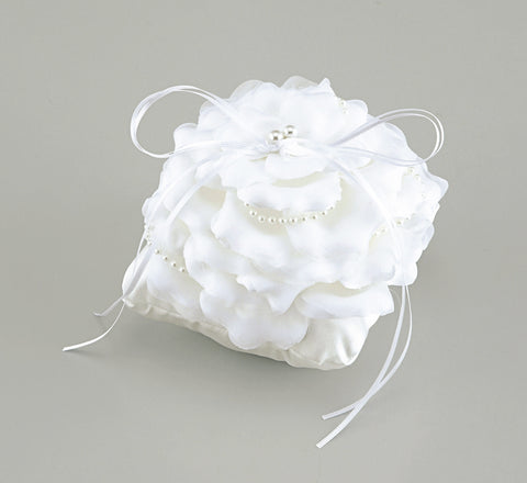 Ring Pillow – Rose Angel Cushion (White)