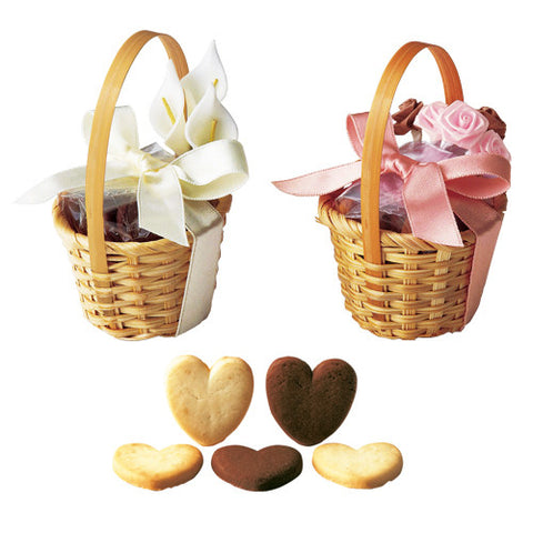 Petit Flower Basket Favor with Cookies (24pcs)