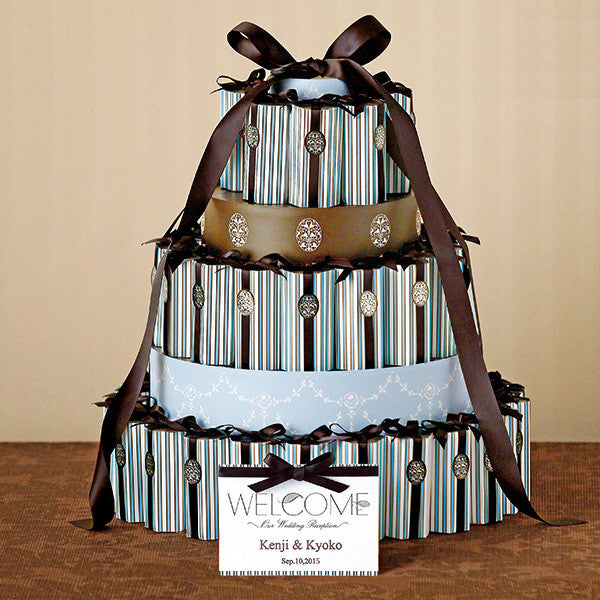 Country Style Stripes Boxes Favor Set (45pcs)