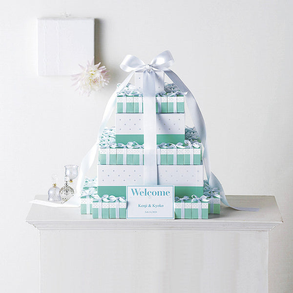 Mariage Blue Big Gift Box Welcome Favor Set