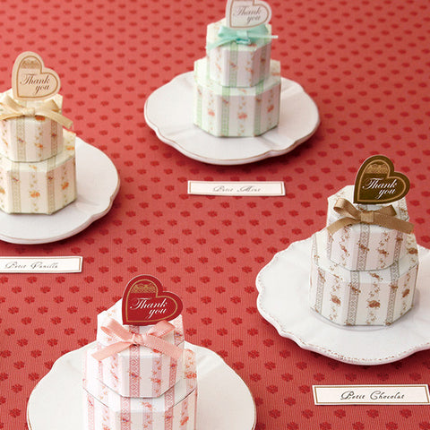 English High-Tea Favor Boxes (12pcs)