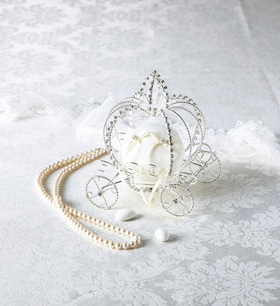 Ring Pillow – Fairy Tale Horse Carriage Style