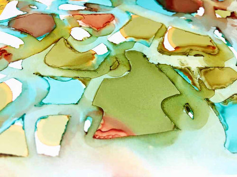 Alcohol Ink and a Stencil with Briana - Artistcellar