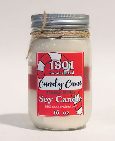 Candy Cane - 16 oz Soy Candle