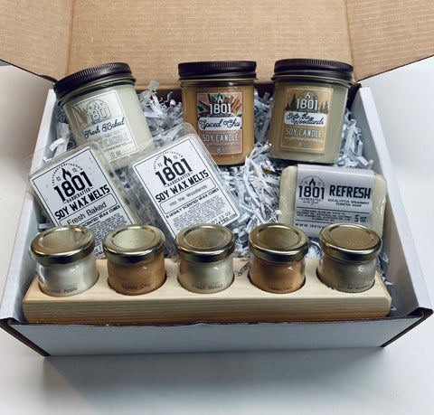 """Warm me up"" themed gift box set"