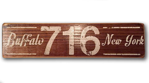 716 Buffalo NY rustic wood sign