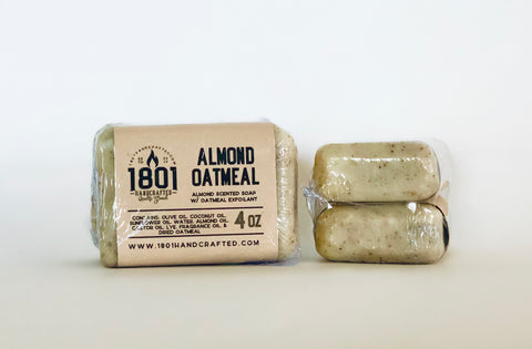Almond Oatmeal - 4 oz Soap (2pk)