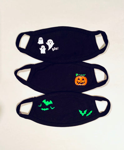 3 pack YOUTH Halloween face masks