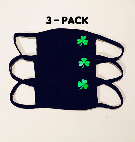 3 pack ADULT Irish face masks