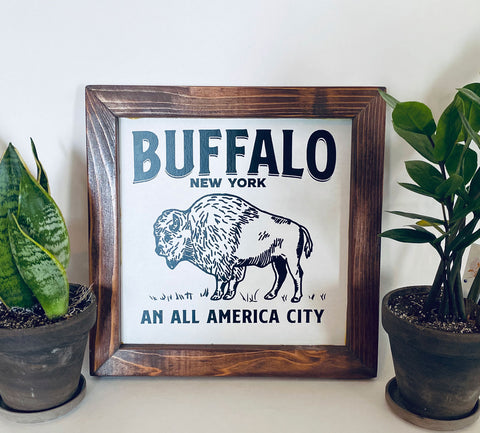 Buffalo An All America City Farmhouse sign