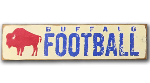 Buffalo Football rustic wood sign