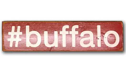 #buffalo rustic wood sign