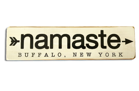 Namaste rustic wood sign