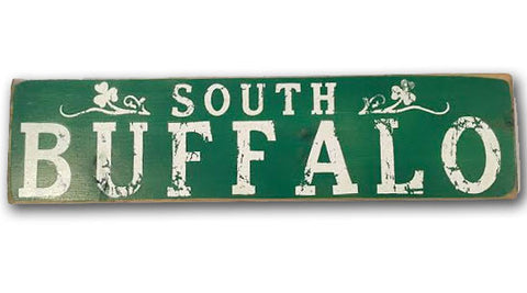 South Buffalo rustic wood sign