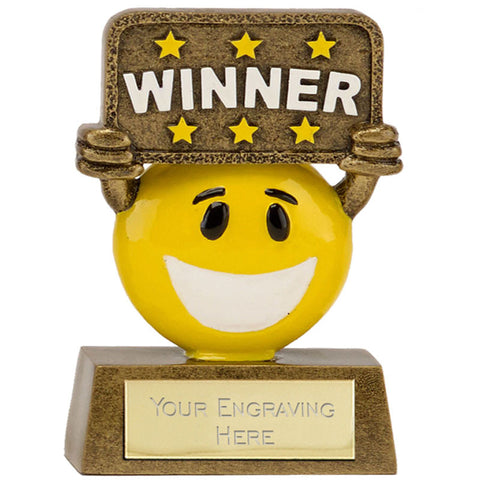 Smiley Face Award In Antique Gold 2 Styles