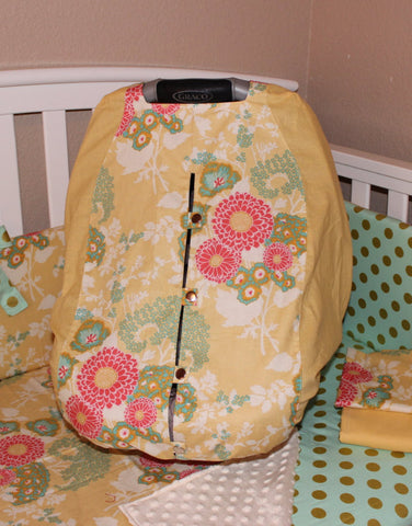 Buttercup Floral Light Weight Carrier Cover