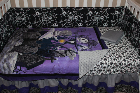 Jack Skellington Nightmare Before Christmas 5 Piece Crib Bedding ...