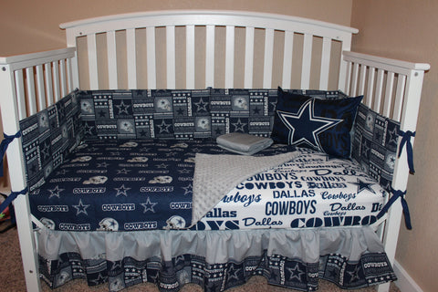 Dallas Cowboys 6 Piece Crib Bedding Set