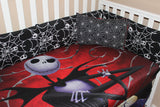 Deluxe Jack Skellinton Nightmare before Christmas 5 Piece Crib Set